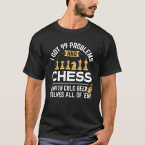 Funny Chess With Beer Solves All Problems T-Shirt