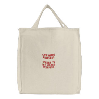 Funny, chic and making a statement embroidered tote bag