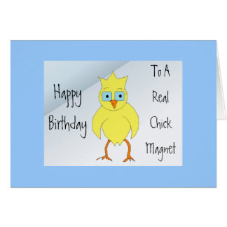 Funny Chick Birthday Message Card