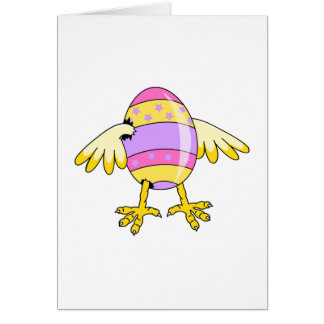 funny chick easter egg card
