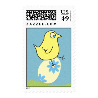 Funny Chick Easter Postage Stamps