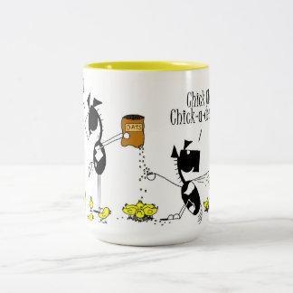 Funny Chick & Horse Cartoon Mug