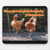 Funny Chicken and Rooster Memes with Funny Images Mouse Pad