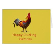 Funny Chicken Birthday Card