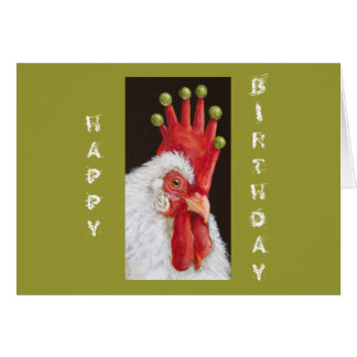 Funny chicken birthday card from all of us