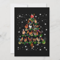 Funny Chicken Christmas Tree Ornaments Decor Holiday Card