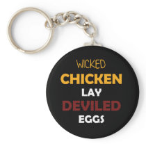 Funny Chicken GifDesign Wicked Chickens Keychain