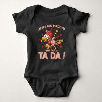 Funny Chicken Lady Crazy Hen Farming Woman Baby Bodysuit