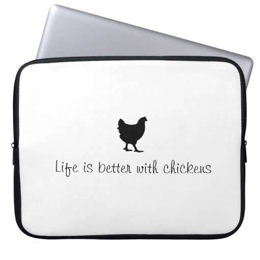 funny chicken laptop case