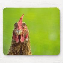 Funny Chicken Portrait - Mousepad