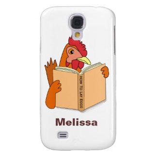 Funny Chicken Reading Book Cartoon Hen Galaxy S4 Cases