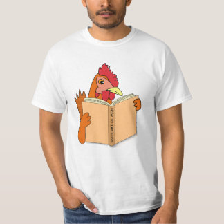 Funny Chicken Reading Book Cartoon Hen T-Shirt