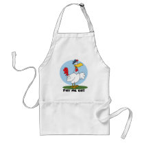 Funny Chicken Ready To Be Served Adult Apron