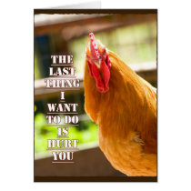 Funny Chicken/Rooster Quote Notecard
