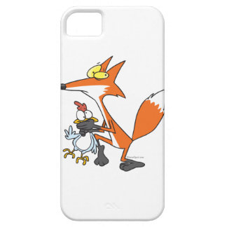 funny chicken stealing stealer fox iPhone 5 cases
