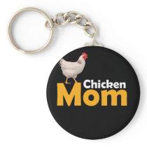 Funny Chicken Themed Chicken Mom Shirt Keychain