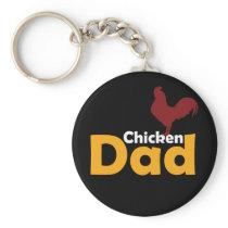 Funny Chicken Themed Gift Chicken Dad Shirt Keychain