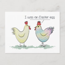 Funny Chicken was an Easter Egg Holiday Postcard