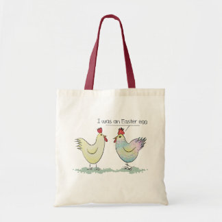 Funny Chicken was an Easter Egg Tote Bag