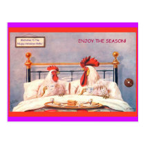 Funny Chickens Holiday Postcards Vintage copy 1910