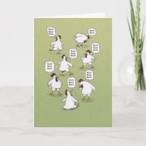 Funny Chickens Twenty Bucks Birthday Card