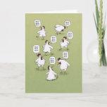 Funny Chickens Twenty Bucks Birthday Card