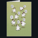 """Funny Chickens Twenty Bucks Birthday Card<br><div class=""""desc"""">This funny birthday card features a group of cute chickens who are happy to provide twenty bucks for someone special. &#169; 2015 Chuck Ingwersen</div>"""