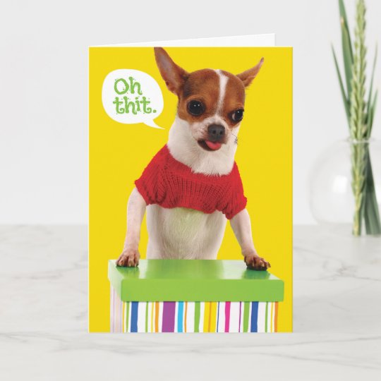 Funny Chihuahu Dog With Lisp Belated Birthday Card Zazzle