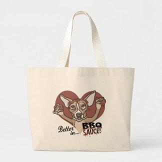 Funny Chihuahua BBQ Tote Bags
