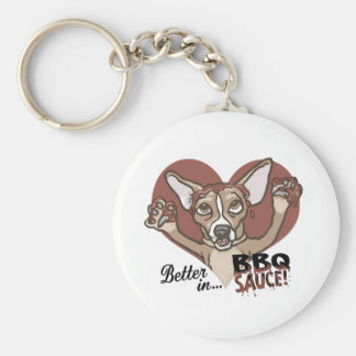 Funny Chihuahua BBQ Basic Round Button Keychain
