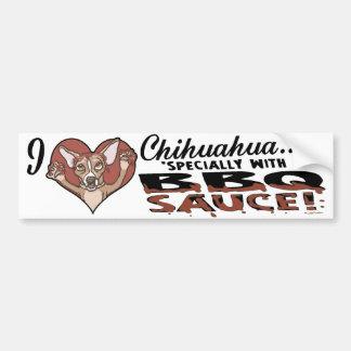 Funny Chihuahua BBQ Car Bumper Sticker