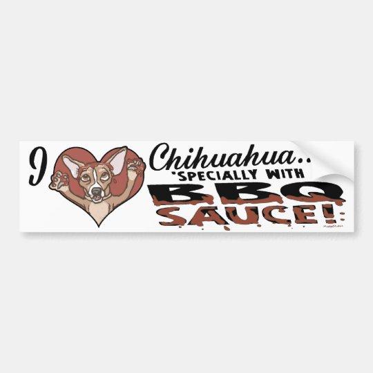 Funny Chihuahua BBQ Bumper Sticker