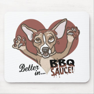 Funny Chihuahua BBQ Mousepad