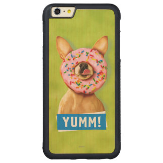 Funny Chihuahua Dog with Sprinkle Donut on Nose Carved Maple iPhone 6 Plus Bumper Case