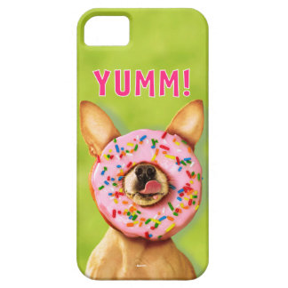 Funny Chihuahua Dog with Sprinkle Donut on Nose iPhone SE/5/5s Case