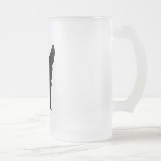 Funny Chihuahua Frosted Glass Beer Mug
