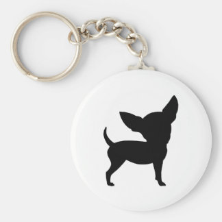 Funny Chihuahua Basic Round Button Keychain