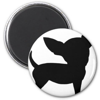Funny Chihuahua 2 Inch Round Magnet