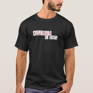 Funny Chihuahua On Board Dark T-Shirt