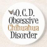 Funny Chihuahua Sandstone Coaster