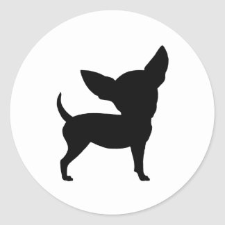 Funny Chihuahua Round Stickers