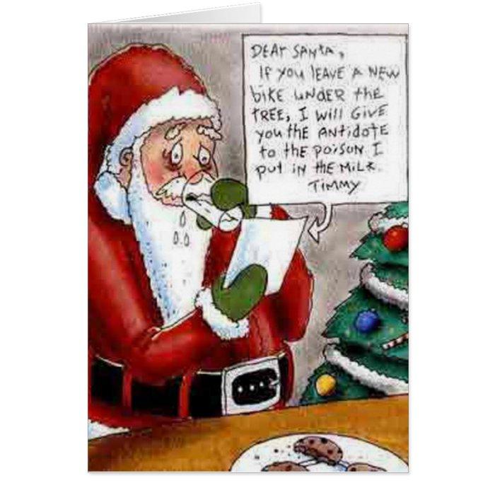 funny child bribes santa christmas card  zazzle
