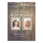 Funny Childhood Photos | Rustic Wood Save the Date Card