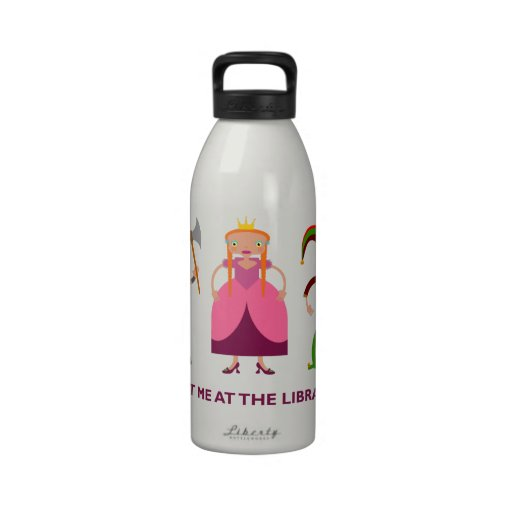 Funny children stories books characters water bottle