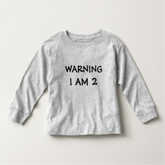 Funny Childrens Warning Label Toddler T-shirt