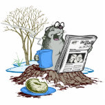 Funny Chillin' Out Groundhog Cutout