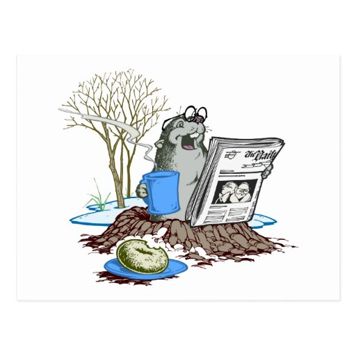 Funny Chillin' Out Groundhog Postcard