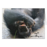 Funny Chimpanzee Birthday Card, Over the Hill