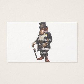 Funny chimpanzee - retro monkey - monkey chimp business card