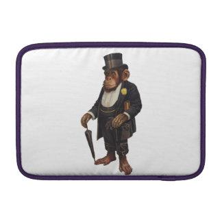 Funny chimpanzee - retro monkey - monkey chimp sleeve for MacBook air